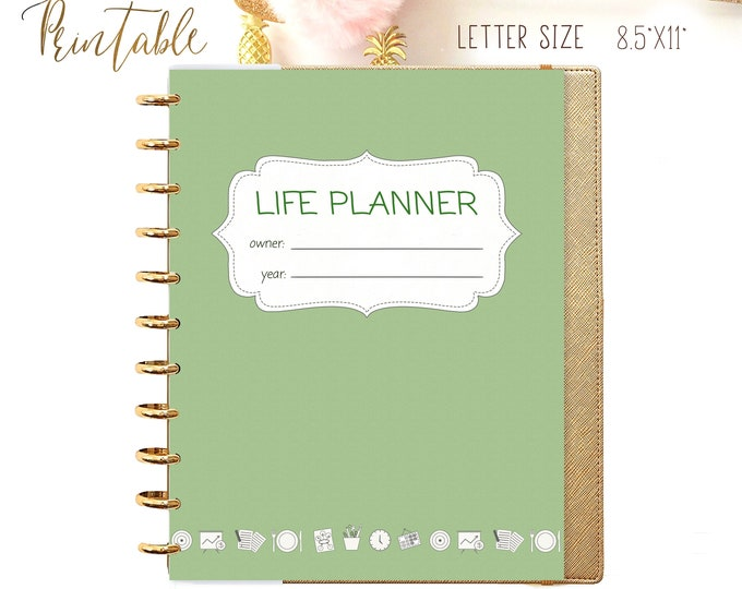 LIFE PLANNER 2020, Big Happy Planner Inserts, Daily planner insert, Weekly Menu Planner