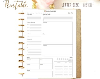 Daily Planner Printable Daily Agenda, Daily planner 2021 Instant Download