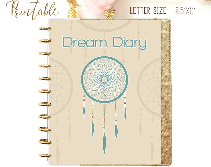 Dream Diary Letter Size Planner Big Happy Planner Inserts Printable Mambi Planner My Agenda