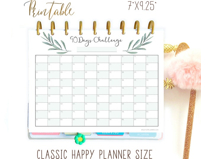 Workout Log Made to fit Happy Planner Printable Insert and Erin Condren Insert