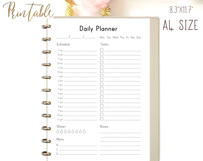 Daily Planner Pages, Printable Binder Inserts, Printable To Do List,  do1p.