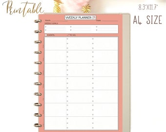Weekly Planner Pages Printable Planner, Wo1P, Weekly To Do List, A4 Planner Inserts