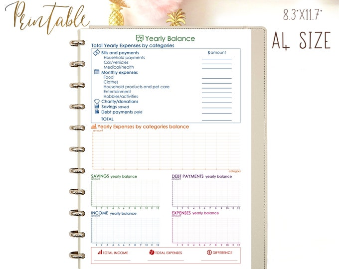 Budget Planner Printable, Financial goals, Budget Binder