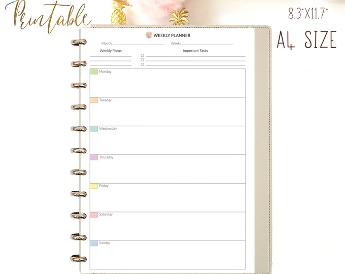 Weekly Planner Pages, Weekly Organizer, Weekly To Do list Printable