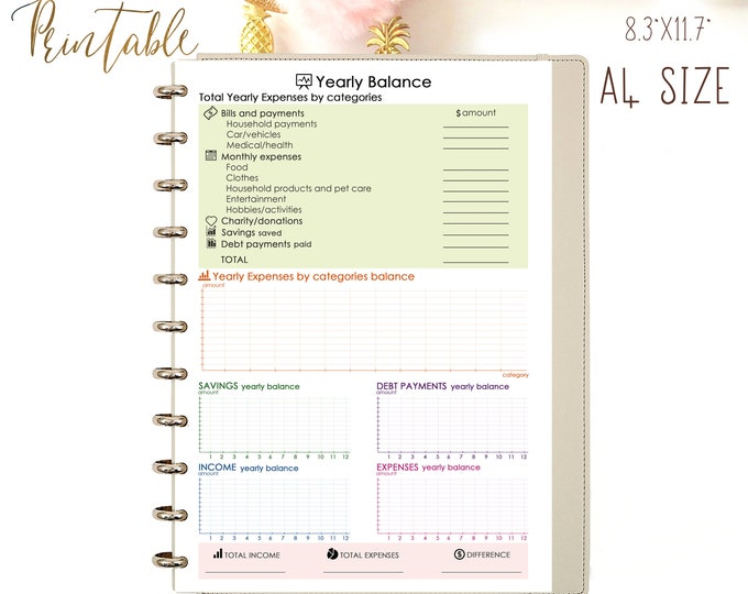 Monthly Budget Planner, Expenses Tracker, Financial Planner Printable