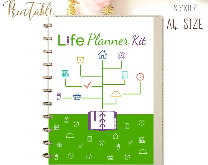 Life Planner Printable, Binder Inserts, Daily Planner 2020, Instant Download