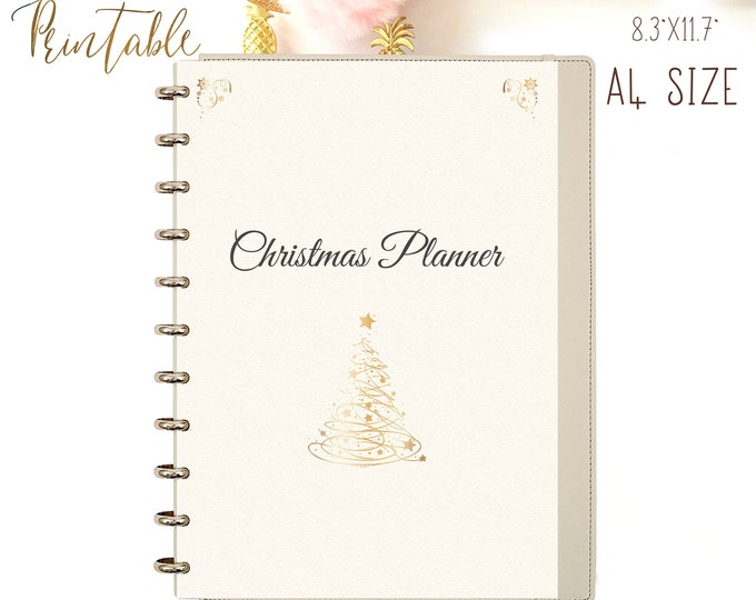 Christmas Planner Kit Printable Binder Inserts X-mas Cards Holiday Planner Gift Planner Party Planner Christmas Organizer Instant Download
