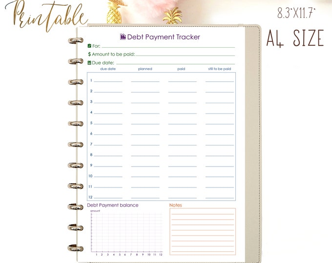 Savings Tracker Printable PDF Family Budget Organizer Money Save Plan Financial Binder.