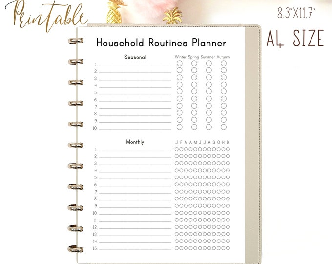 Cleaning Checklist, Household Binder, Home Management, Routine Checklist, Cleaning Printable A4