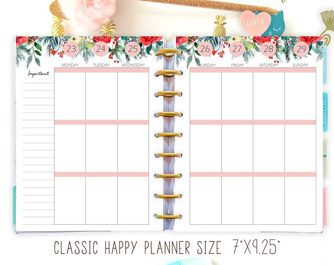 Editable Planner 2022 Weekly Planner Pages made to fit Happy Planner Template