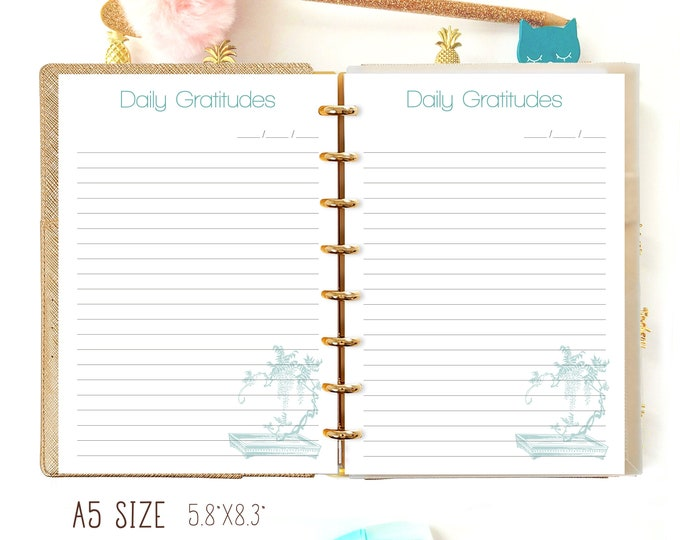 A5 Planner Refills, Daily Gratitude Christian Planner Filofax A5 Inserts Printable.