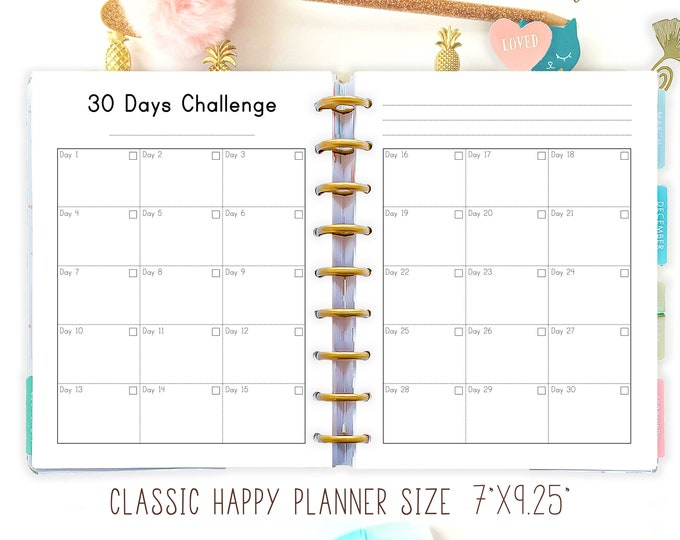 Happy Planner Habit Tracker Printable Inserts Habit Monthly Healthy Habit Tracker Daily Habits Planner Made to Fit Erin Condren Planner