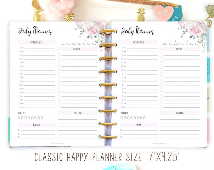 Daily Planner Printable To Do List, made to fit Happy Planner Inserts and Tul Inserts DO1P