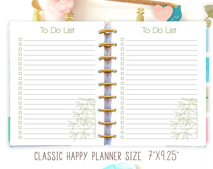 Printable To Do List Made to Fit Erin Condren Planner and Happy Planner Inserts