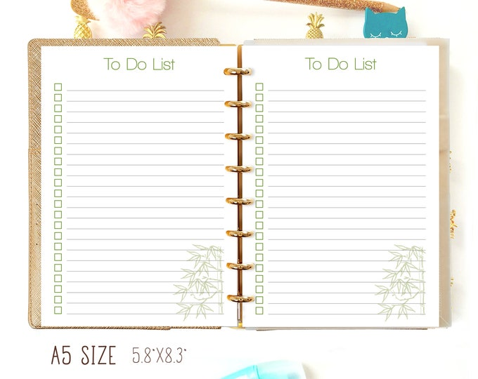 To Do List Printable, A5 Printable Planner Inserts.