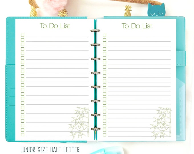 Printable To Do List, Half Letter Planner Printable, Half Size Inserts.