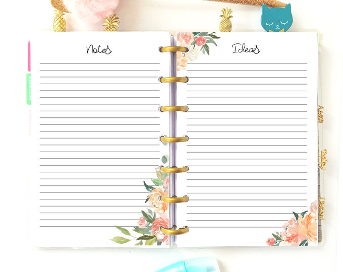 Mini Happy Planner Inserts Printable To Do List, Ideas, Notes Inserts