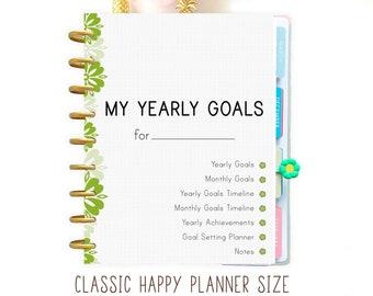 Happy Planner Printable Productivity Planner Goals Planner Printable To do List Mambi Happy Planner
