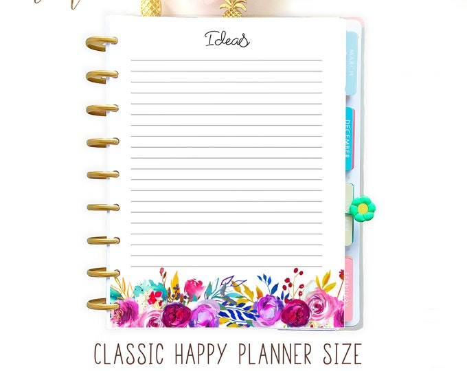 Printable To Do List for Happy Planner Inserts Mambi Planner, Notes Inserts, Ideas Printable