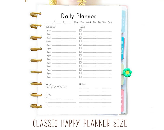 Daily Planner Inserts, Happy Planner Inserts, Printable Planner