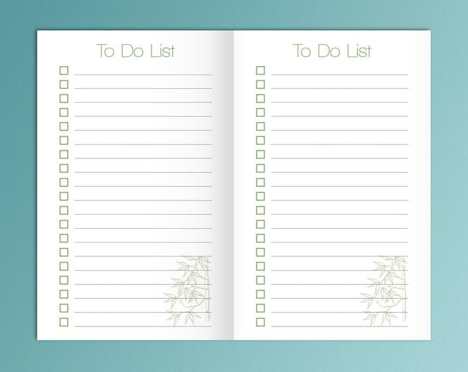 To Do List Bullet Journal Printable Pocket TN Inserts Field Notes Printable Travelers Notebook Insert Pocket Size TN Pocket Planner Inserts