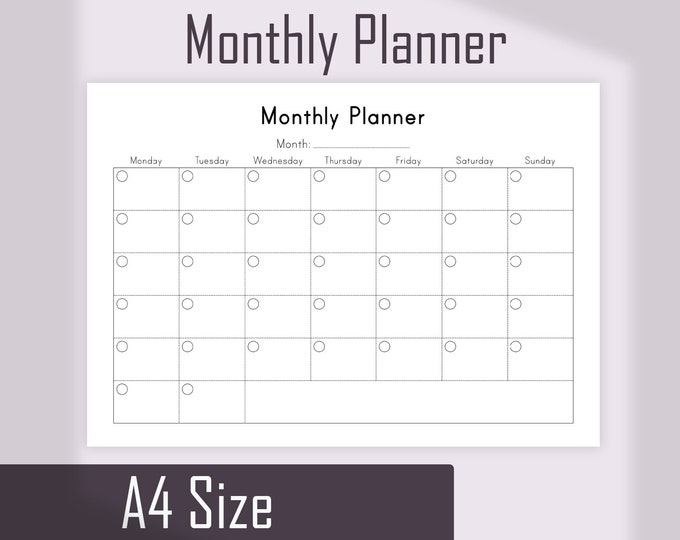 MONTHLY PLANNER Printable To Do List, Mo1p, Monthly Planner Pages.