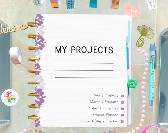 Productivity Planner, Made to Fit Erin Condren Planner and Happy Planner Inserts