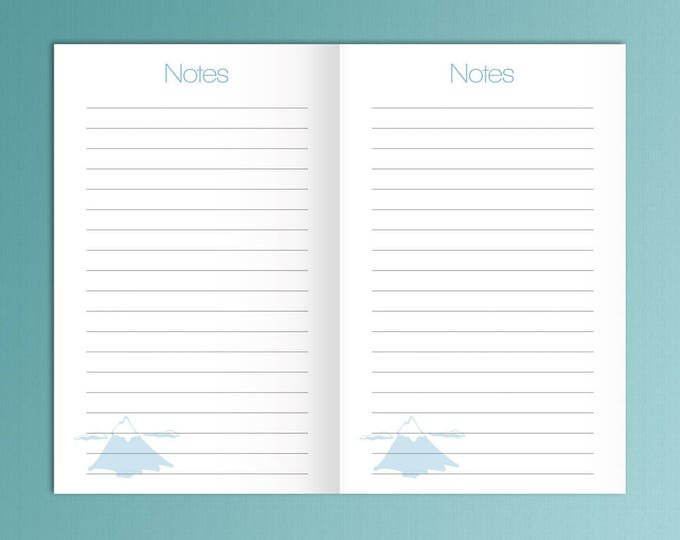 Field notes inserts, Pocket size insert, bullet journal pdf, Pocket TN Inserts