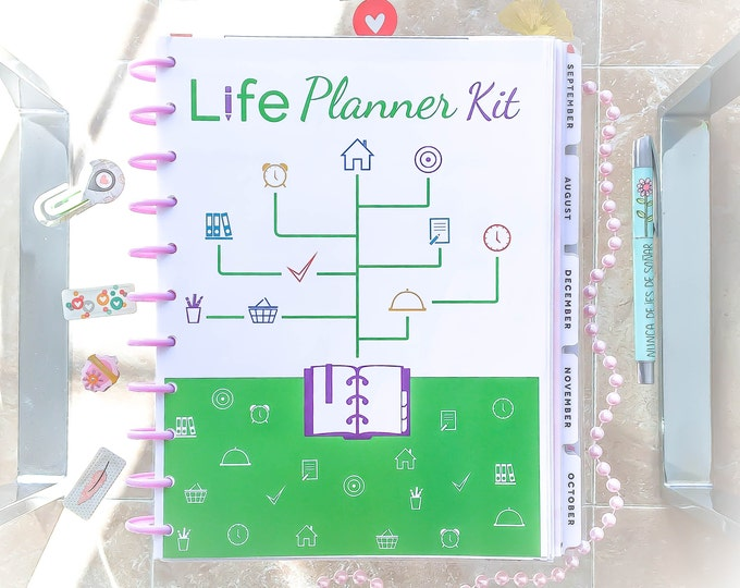 Life Planner Pages, Big Happy Planner Inserts, Printable Organizer, New Year Planner