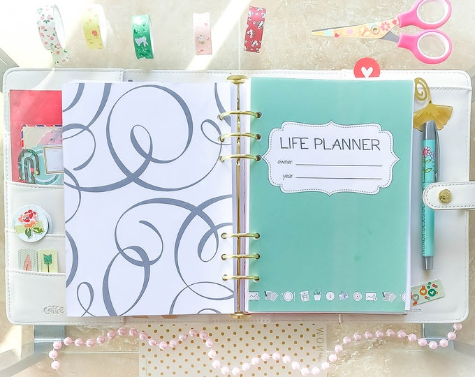 Life Planner A5 Planner Inserts, Weekly Planner Pages, Menu Planner.