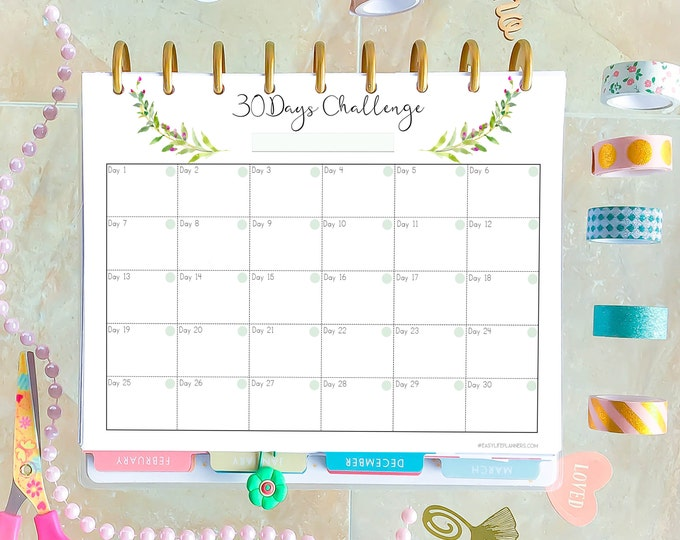 Weight Loss Tracker Made to fit Happy Planner Printable Insert and Erin Condren Insert