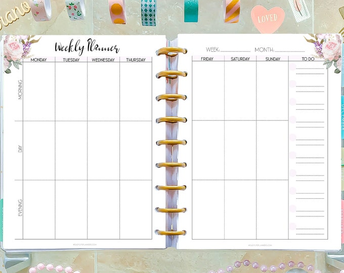 Weekly Planner Printable To Do List, made to fit Happy Planner Inserts WO2P