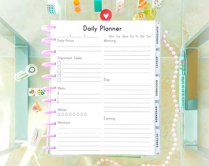 Daily Planner Pages for Big Happy Planner Inserts Printable To Do List