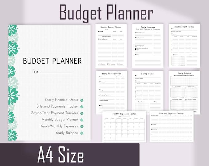 Budget Planner Printable, 2021 Budget Planner Inserts, Financial Planner, bill tracker
