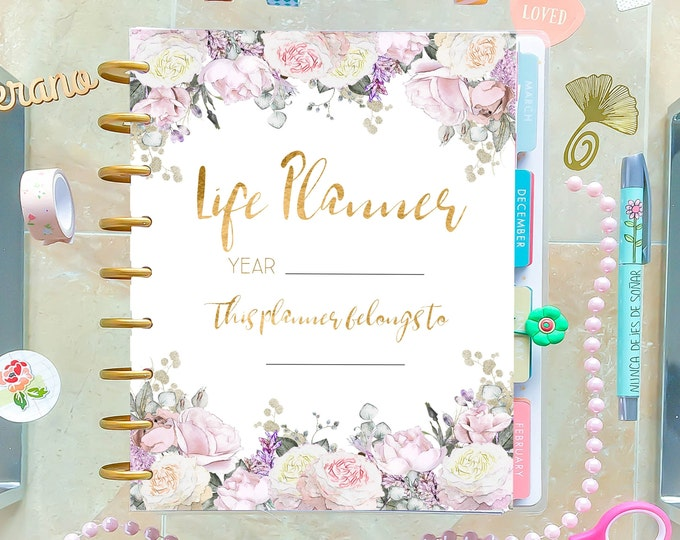 Life Planner 2020 made to fit Classic Happy Planner Printable and Erin Condren Inserts Sunday and Monday Start
