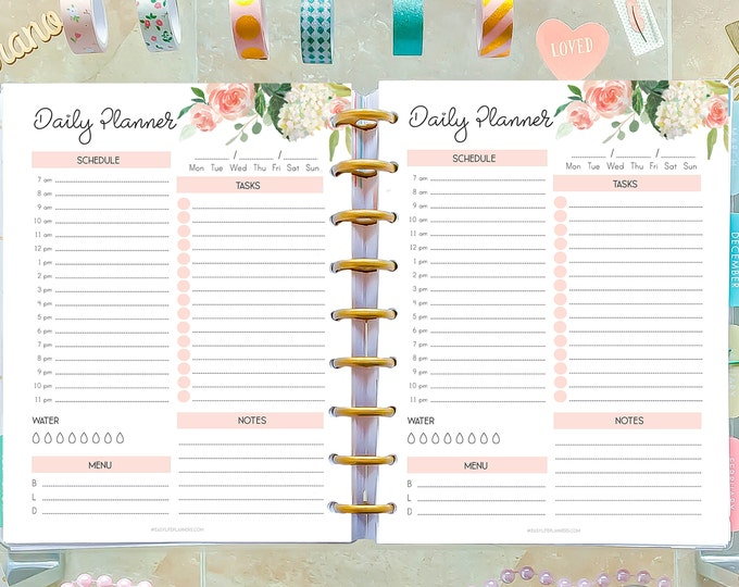 Daily Hourly Planner Printable made to Fit Classic Happy Planner 2020 Refills, Do1P