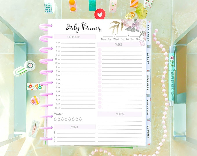 Daily Planner Pages, DO1P, Printable To Do List, made to fit Big Happy Planner Inserts Printable