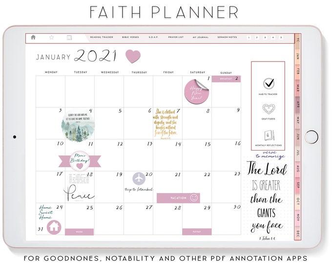 Faith Planner, Digital Planner, Notability Planner, xodo digital planner, Goodnotes Planner, iPad Planner, Devotional planner