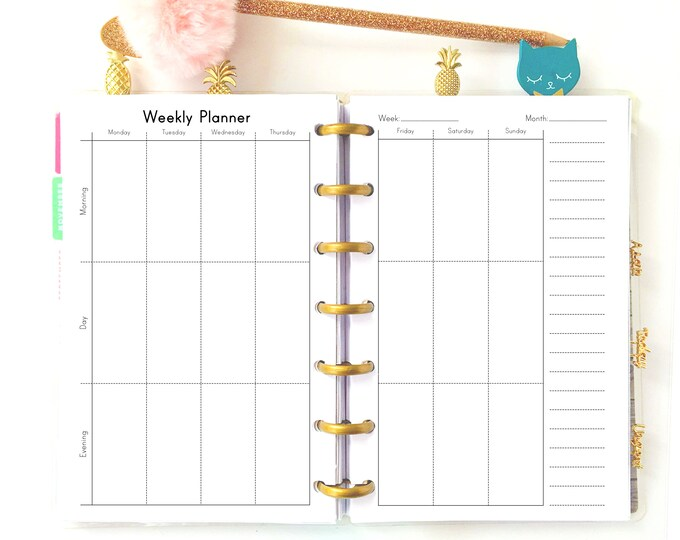 Mini Happy Planner Printables Weekly Planner pages Mini Happy Planner Weekly