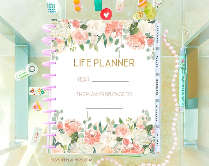 Life Planner 2020, Printable Planner Pages, 8.5 x 11 Big Happy Planner Inserts