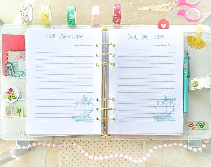 Christian planner, Half Letter Planner, Half Size Inserts, Printable