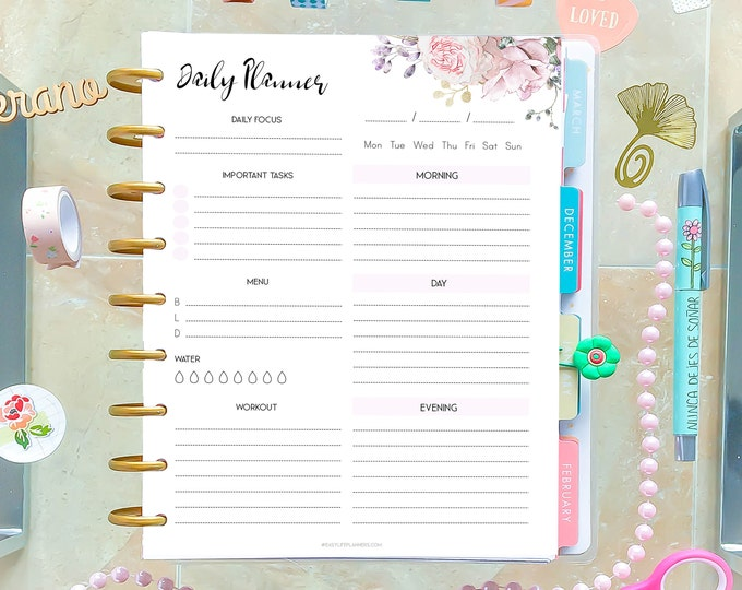 DO1P Daily Planner Printable, Daily To Do List, made to fit Happy Planner Inserts