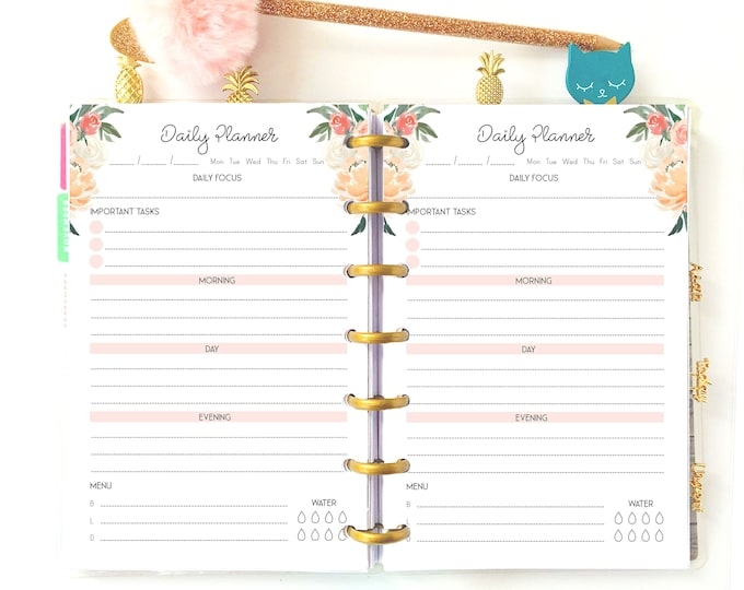 Daily Planner Pages for Mini Happy Planner Inserts Printable Do1P.