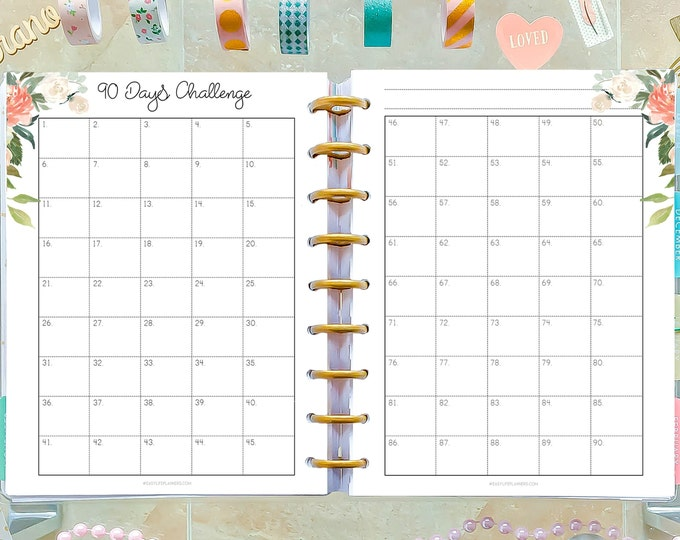Weight Loss Tracker, made to fit Classic Happy Planner Inserts, Habits Planner