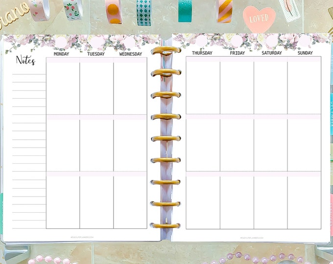Weekly Planner Pages, Printable To Do List, made to fit Happy Planner Inserts WO2P Inserts