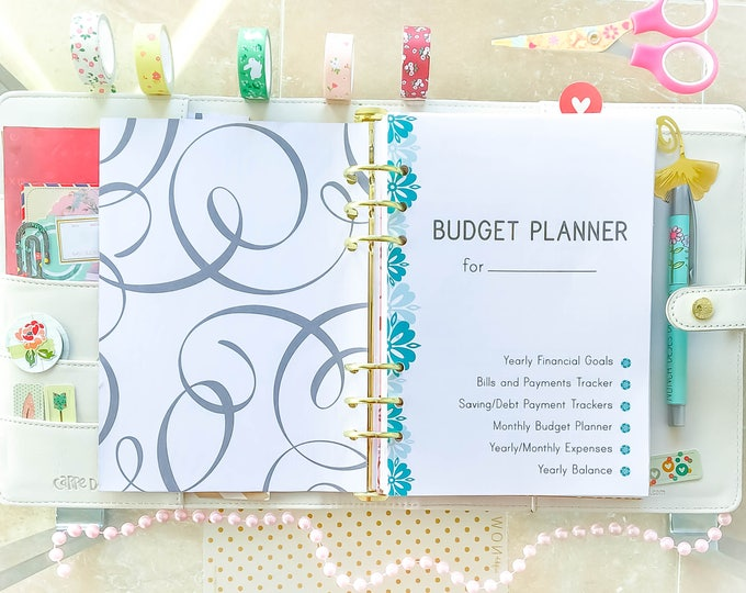 Featured listing image: Finance Planner A5 Inserts, Expense Tracker, Debt tracker.