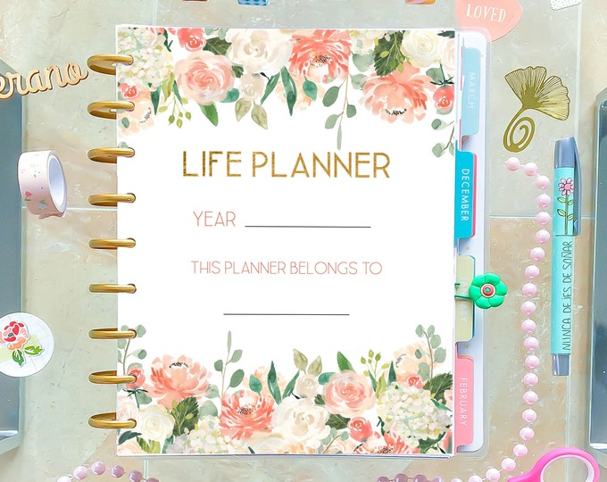 Life Planner 2020, Printable Planner Pages made to fit Classic Happy Planner Printable Inserts