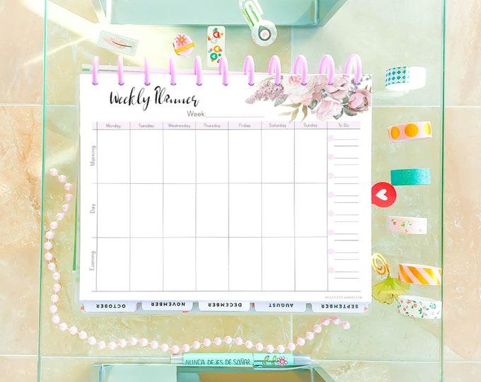Weekly Planner Printable, Weekly Agenda, Cute planner,  Weekly Plan, Big Happy Planner Inserts,