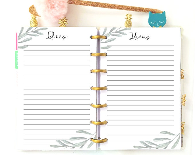 Printable To Do List, made to fit Mini Happy Planner Inserts, Daily Notes Ideas Inserts