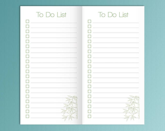 Midori Traveler's Notebook Sized Planner Printable Insert TO DO 8.25 x 4.33 PDF To Do list tn insert Checklist printable. Instant Download